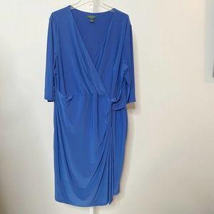 Lauren Ralph Lauren Plus Size Faux Wrap Dress